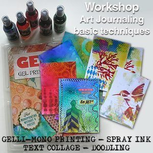 Live workshop – Basic art journal techniques