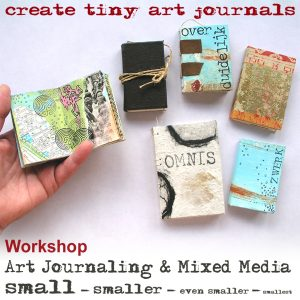 Live workshop: Tiny art journals