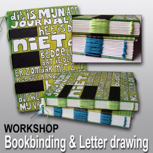 Live workshop: Bookbinding & letterdrawing